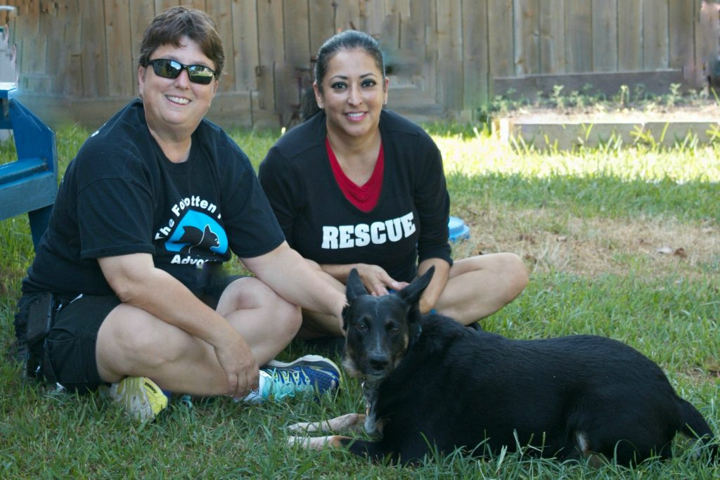 """Gina"" and her Rescuers !"